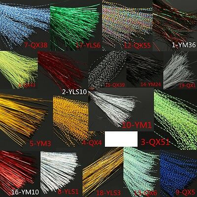150Pcs 30cm Crystal Flash Fly Tying Material Krystal Fishing Lure Tying Making