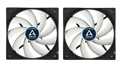 2 Pack of Arctic F12 PWM 120mm PC Case Fan - Rev 2 - Silent, High performance
