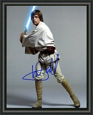 MARK HAMILL Star Wars Luke A4 SIGNED AUTOGRAPHED PHOTO POSTER  FREE POST
