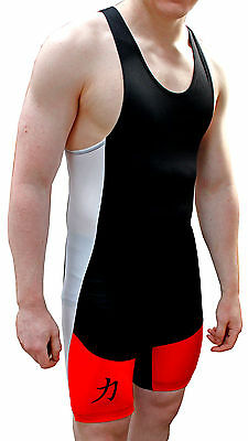Strength Shop Singlet Inferno (Red / White / Black) w/logo - IPF approved