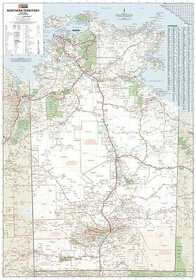 (Laminated) Super Map Of Northern Territory 100X140Cm Nt State Australia Poster
