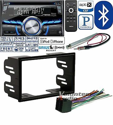 CLARION DOUBLE DIN BLUETOOTH CD CAR RADIO INSTALL MOUNTING KIT HARNESS ANTENNA
