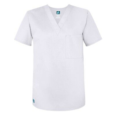 Adar Men's Medical Nursing Scrub Uniform 1 Pocket V-Neck Uniforms Scrub Top