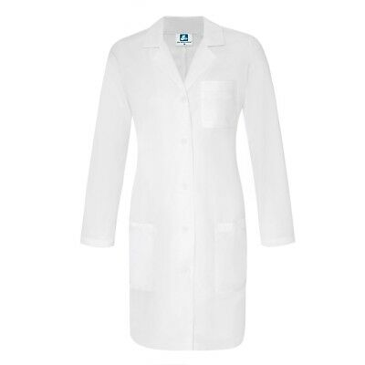 Adar Women's Hospital Uniform Lapel Collar 5 Pockets Lab Coat Slim-Fit Lab Coat