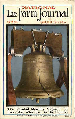 National Farm Journal Monthly Magazine - Liberty Bell c1920 Advert Postcard
