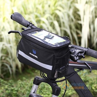 Cycling Bicycle Bike Handlebar Front Frame Tube Bag Pouch Case Basket Pannier