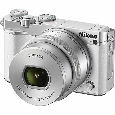 BLACK FRIDAY Nikon 1 J5 Mirrorless Digital Camera with 10-30mm Lens - White