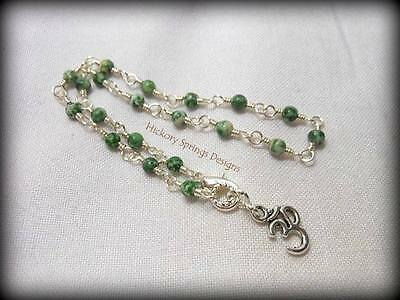 Tree Agate Silver Wire Wrapped Anklet ~ Any Size