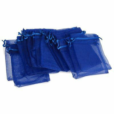 24PCS Candy Gift Bag Pouch Wedding Party Royal Blue Gauze Hot PK