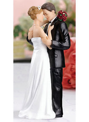 Wedding Cake Toppers Tender Embrace Bride and Groom Cake Topper Top
