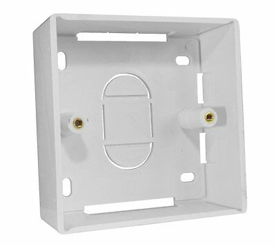 Single Gang 32mm Deep Surface Mount Back Box Cat5e Cat6 Networking Wall Outlet