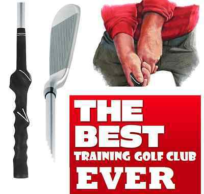 LEARNING BEGINNER LONG IRON PRACTICE HITTING GOLF CLUB with Training Grip