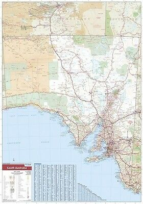 (LAMINATED) Super MAP Of South Australia State Giant POSTER (100x140cm) Wall