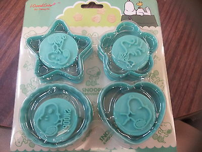 SNOOPY Peanut Cartoon Easy Use Plastic COOKIE Cutter 4 Design Stamp Mold Set