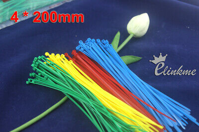 1200pcs/box,6 colors 100mm X 2mm Locking Nylon Cable Wire Zip Ties/ Self Locking