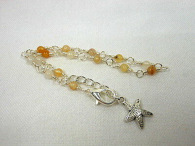 Sard Silver Wire Wrapped Anklet ~ Any Size
