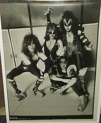 KISS POSTER LIVE NEW NEVER OPENED MID 2000'S VINTAGE AMSTERDAM 1976