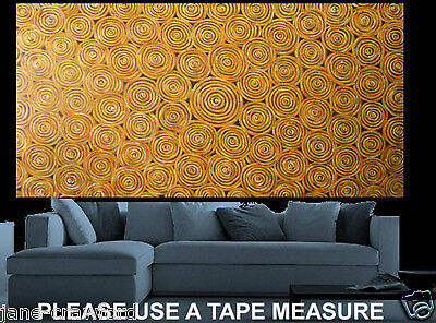 """Huge 118""""  aboriginal art painting golden dreampools authentic By Jane COA"""