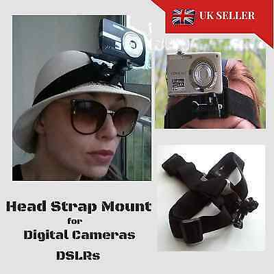 Digital Camera Head Helmet Strap Band Mount Holder Belt Canon Nikon Sony Samsung