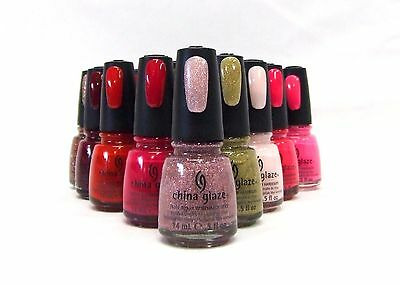 China Glaze Nail Polish Lacquer Assorted Colors From 216 - 665  .5oz/15mL