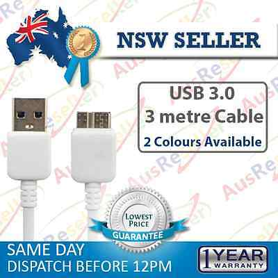 3m 20cm USB 3.0 Data Sync Charging Cable for Samsung Galaxy S5 Note 3