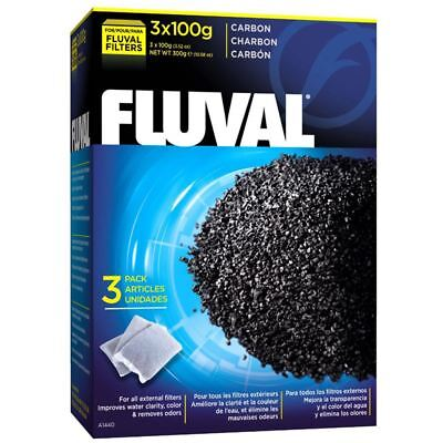 Fluval Filter Carbon 3 x 100g Bags Aquarium Filter Media 300g