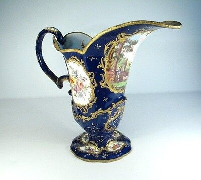 ANTIQUE 18th CENTURY BILSTON TYPE ENAMEL JUG + ORIGINAL FRENCH ROYAL BOX