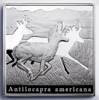 Niue 2010 $1 Oddities of Nature - The Pronghorn 28.28g Silver Proof Coin