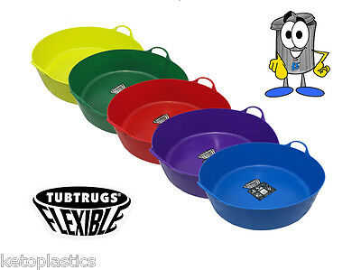 Pack Of 2 Large Shallow 35L Tub Trug,Bucket, Horse Feeder, Animal, Pets