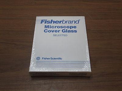 FISHER 40 x 22 x 1.5mm COVER GLASS RECTANGLE 12-544-B SEALED CASE 10 PACKS NEW