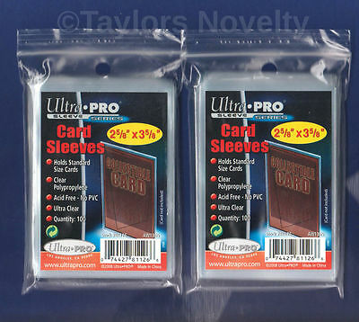 200-Ultra Pro Baseball Soft Clear Card PLASTIC Penny Sleeves  Trading FREE SHIP