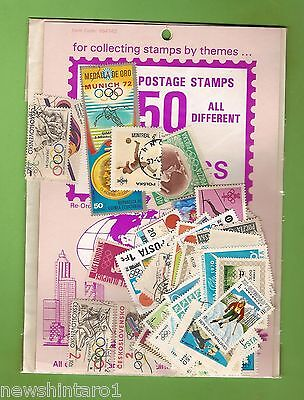 #d172. Pack Of 50 Olympics  Thematic Stamps