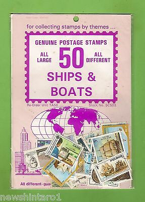 #d172. Pack Of 50 Ships  & Boats Thematic Stamps
