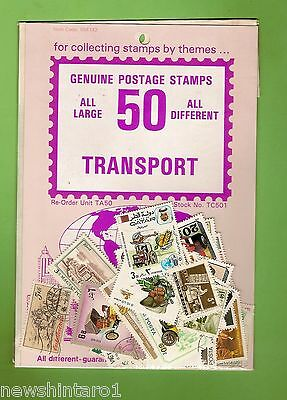 #d172. Pack Of 50 Transport Thematic Stamps