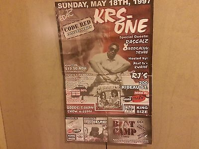 Vintage ORIGINAL KRS ONE HIP HOP POSTER/FLYER 1997