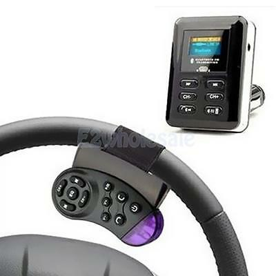 LCD Bluetooth Car Kit MP3 Player FM Transmitter Steering Wheel USB SD Card