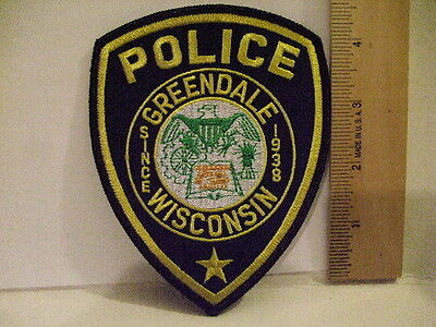 police patch  GREENDALE POLICE WISCONSIN
