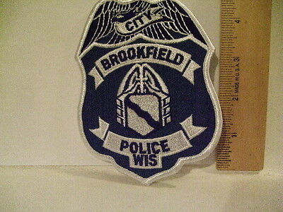 police patch  CITY OF BROOKFIELD POLICE WISCONSIN