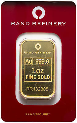 Rand Refinery 1oz Elephant Gold Bar .9999 Fine in Assay
