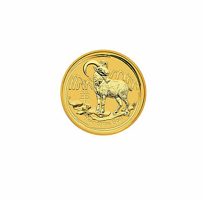 2015-P $5 1/20oz Gold Australian Year of the Goat .9999 fine BU