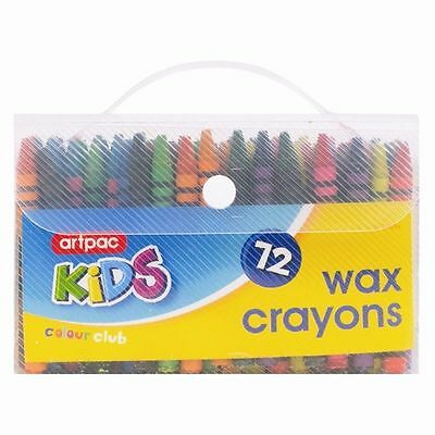 72 Pcs Pack Kids Wax Crayons Assorted Colours Kids Pencil Set Children Colouring