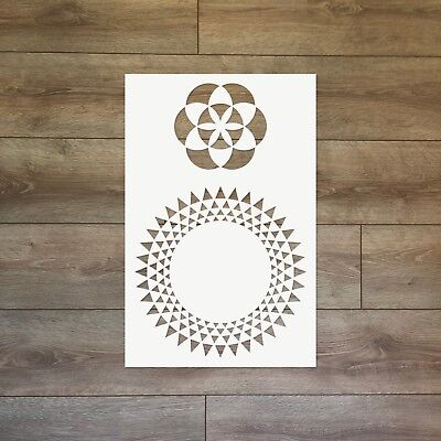 The Seed of Life - Sacred Geometry Reusable Plastic Stencil
