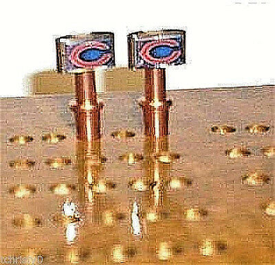 2- Chicago Bears Metal Cribbage Pegs. USA Made, With FREE Velvet Pouch USA  a