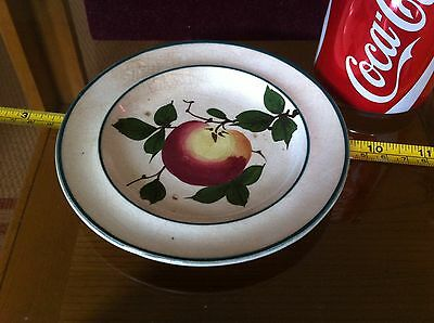 Small Collectable Pottery Plate Hand Painted Apple England Made
