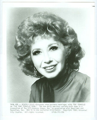 BEVERLY SILLS original 1980 television photo OPERA Toni Tenille Show