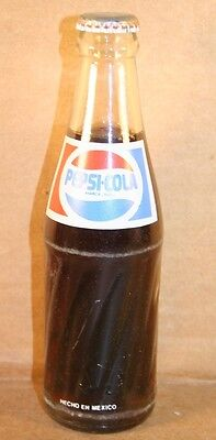 Pepsi-Cola ACL Bottle, Mexico, 192 ml, Full With Cap, 3-Color Label, 1989