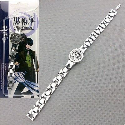 Black Butler Rotary Ciel Contract Metal Bracelet Anime Cosplay Costume Hot
