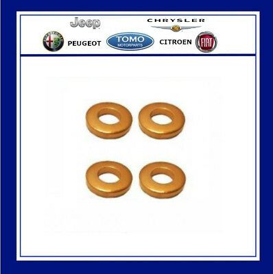 Peugeot / Citroen 1.6 HDI DV6 injector Copper Washer Seals x 4 Genuine New 1