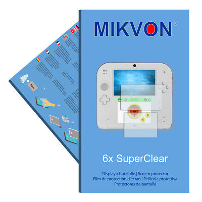 6x Mikvon films screen protector SuperClear for Nintendo 2DS