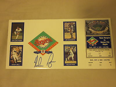 1993 Nolan Ryan Texas Rangers Autographed Ticket Hologram